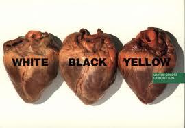 Oliviero Toscani, corazones, racismo, razas,